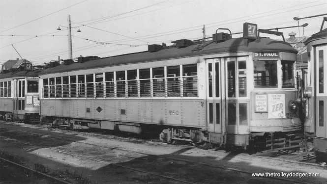 A TM 700-series car at National Avenue car station. (Herb Danneman collection)