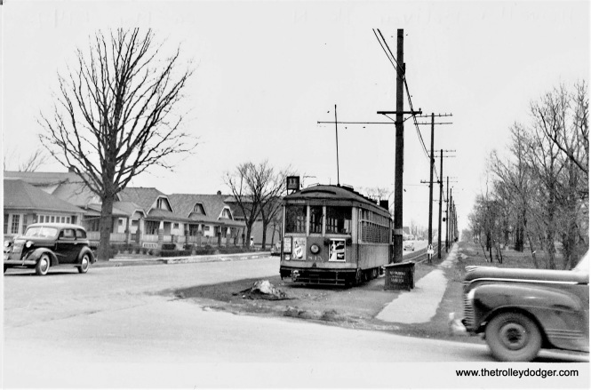 845 at Bolivar and Howell Avenues in the 1940's. (Duane Matuszak collection)