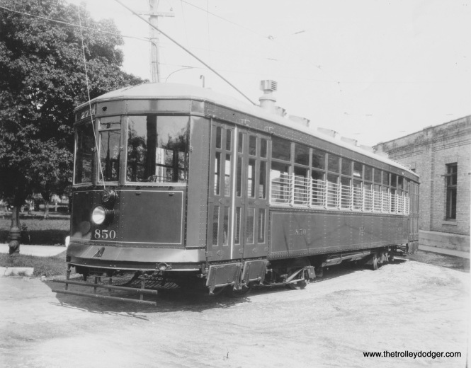 Car 850 as originally built, location unknown. (Collection of Robert Genack)