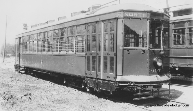 907 as originally built., at an unknown location. (Robert Genack collection)