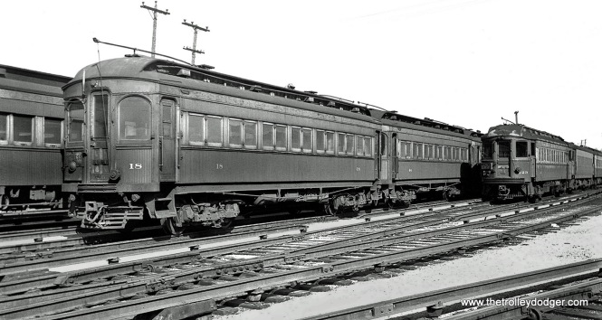 CA&E car 18 (Niles 1902), plus cars 44 and 423.
