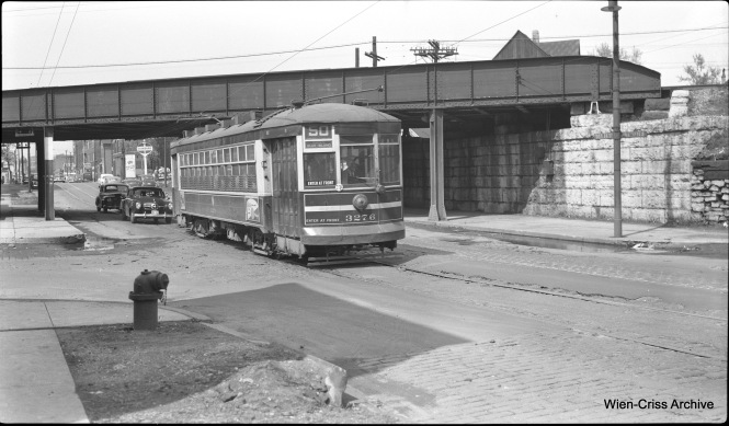 CTA one-man car 3276 on Route 50 - Damen at about 2300 North. (Robert Selle Photo, Wien-Criss Archive)