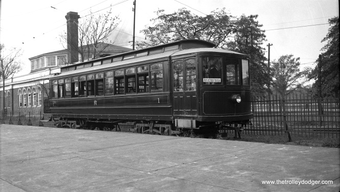 Fairmount Park Transit closed car #1 on May 19, 1935.