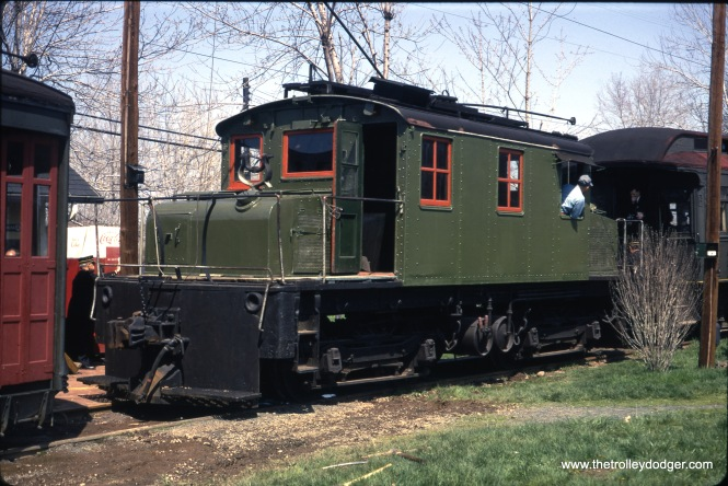 An Oshawa steeple cab at the Connecticut Trolley Museum in May 1967. (Gerald H. Landau Photo)