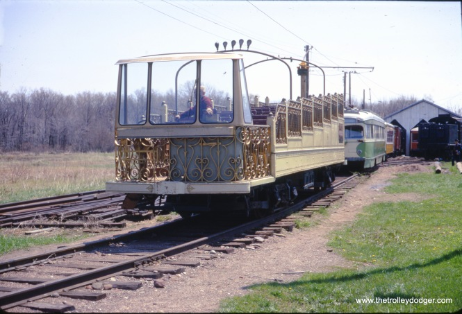 Montreal observation car #4 at the Connecticut Trolley Museum in May 1967. (Gerald H. Landau Photo)