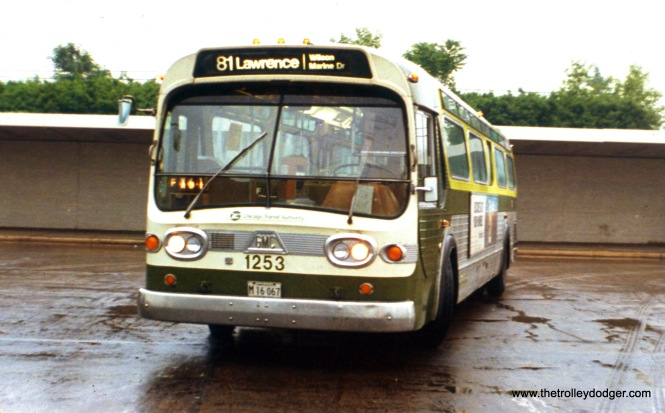 "CTA ""Fishbowl"" bus 1253 at Jefferson Park on June 25, 1978, running on Route 81. (Ronald J. Sullivan Photo, William Shapotkin Collection)"