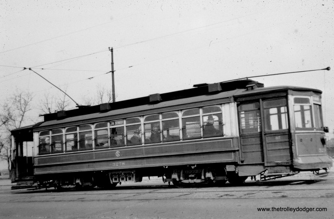 CTA 5278 at 79th and Western in March 1948 on Route 79. (William Shapotkin Collection)
