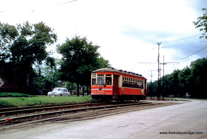 CTA 6199 is signed for Route 87A. (William Shapotkin Collection)