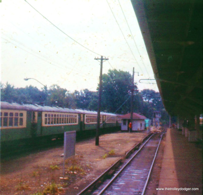 CTA 4000s in Linden Avenue yard ca. 1972.