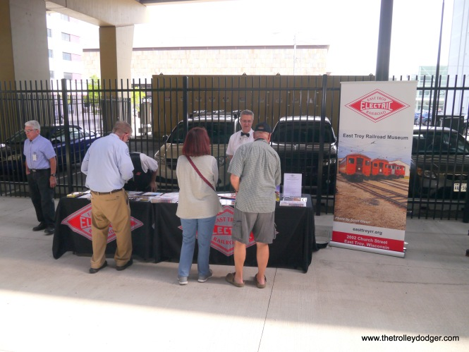 The East Troy Electric Railroad had a table at the open house.