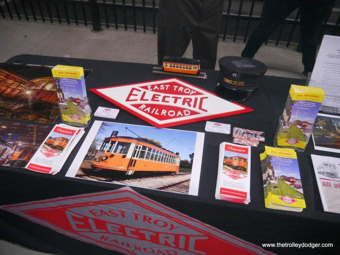 Part of the East Troy Electric Railroad display.