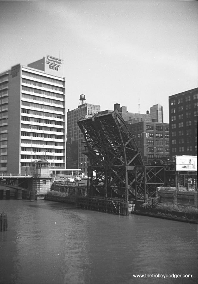 "Another view of the same two Met ""L"" bridges in 1959."