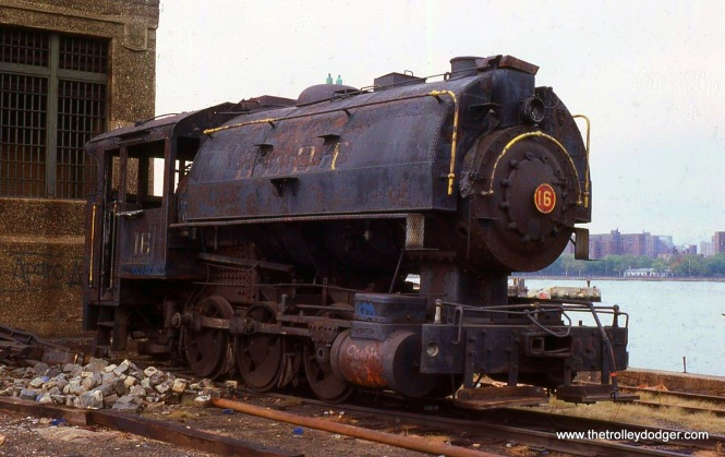 BEDT 0-6-0 #16 in Brooklyn, NY on October 9, 1982.