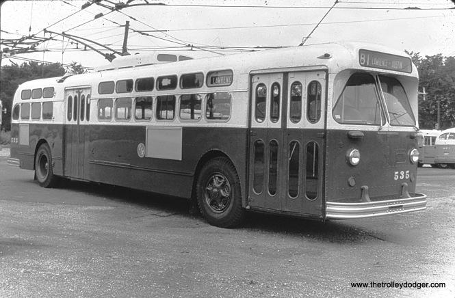 CTA Marmon-Herrington trolley bus 535 at North and Cicero.