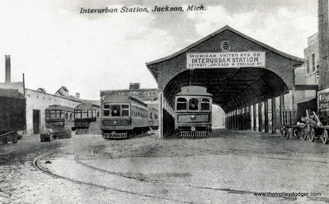 Jackson Interurban Station postcard.