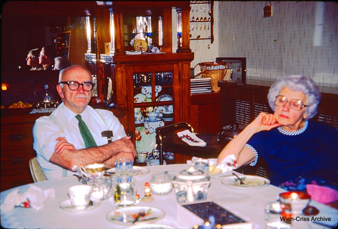 Bill Hoffman and his sister Dorothy at their home at 6622 S. Maplewood Avenue in Chicago on December 26, 1981. Two nicer people, you will never meet. Both are sadly long gone. (Wien-Criss Archive)