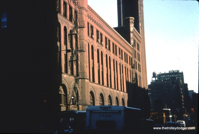 The Wells Street side of Grand Central Station in Chicago. The view looks north along Wells Street in the 1960s. (Ron Peisker Photo)
