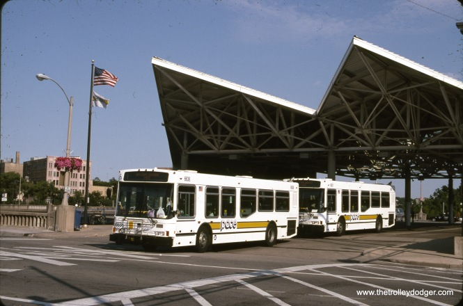 Pace buses in Elgin, June 2003.