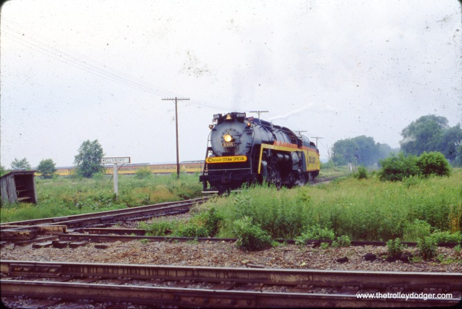 The Chessie Steam Special in Wellsboro, IN on June 17, 1978.