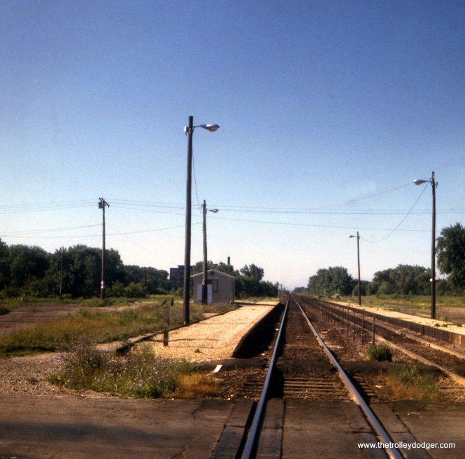 The C&NW commuter stop in Zion, July 30, 1966.