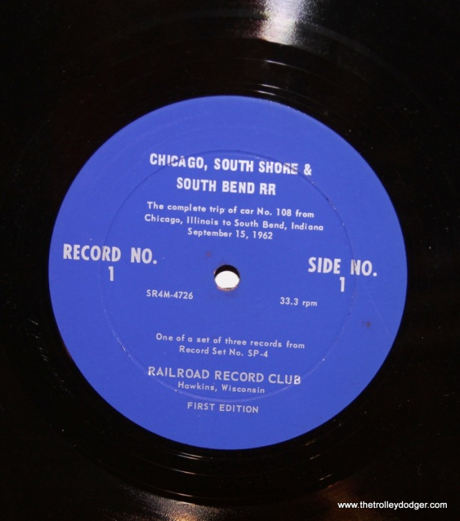 17 Label for 1st edition of record 1 side 1 of RRC-SP4