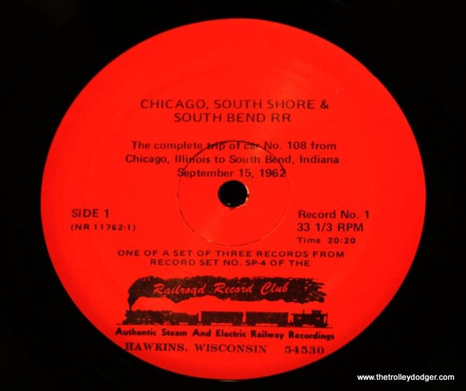 19 Label for 3rd edition of record 1 side 1 of RRC-SP4
