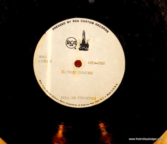6 Close up of RCA test pressing for Illinois Terminal