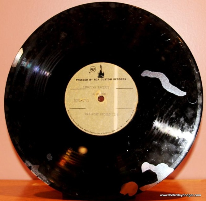 8 RCA test pressing for CN showing damage