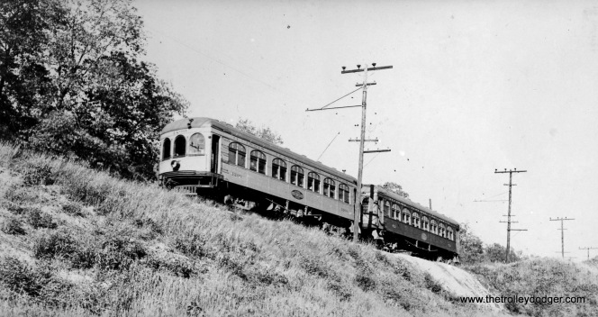 Ill Terminal local on Caldwell Hill East Pearia about 1936