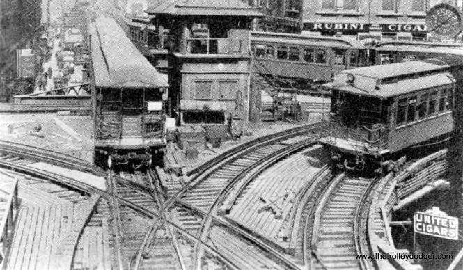 "Chicago badly needed subways to help reduce congestion on the Loop ""L"", here shown in the early 1900s at Lake and Wells."
