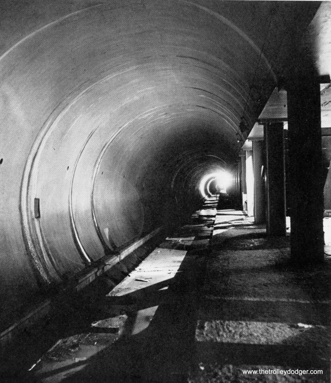 The unfinished Dearborn tube in 1943. Work was halted due to materials shortages during WWII.