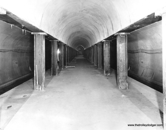 The unfinished subway, circa 1941.