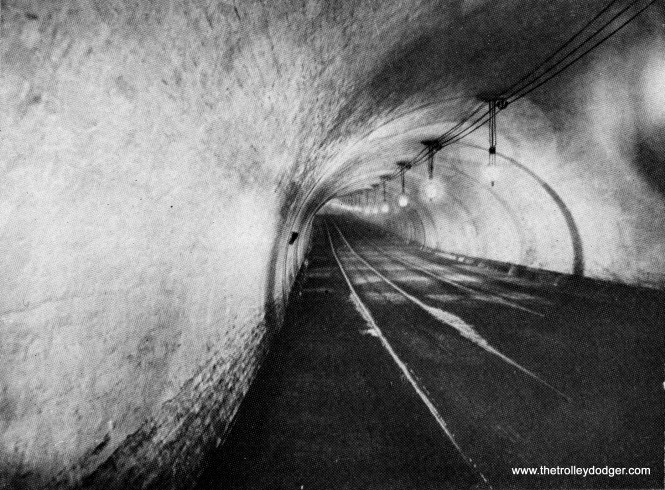 I believe this shows the Van Buren river tunnel during cable car days, prior to its lowering for use by streetcars.