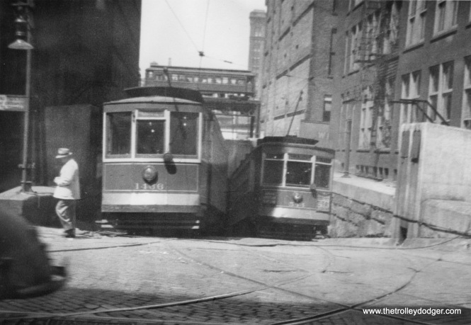 The Van Buren Street river tunnel in streetcar days.