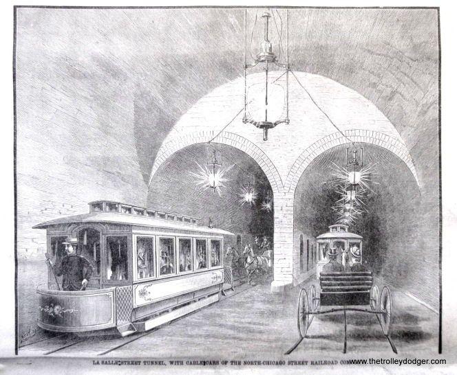 Cable cars in the LaSalle tunnel.