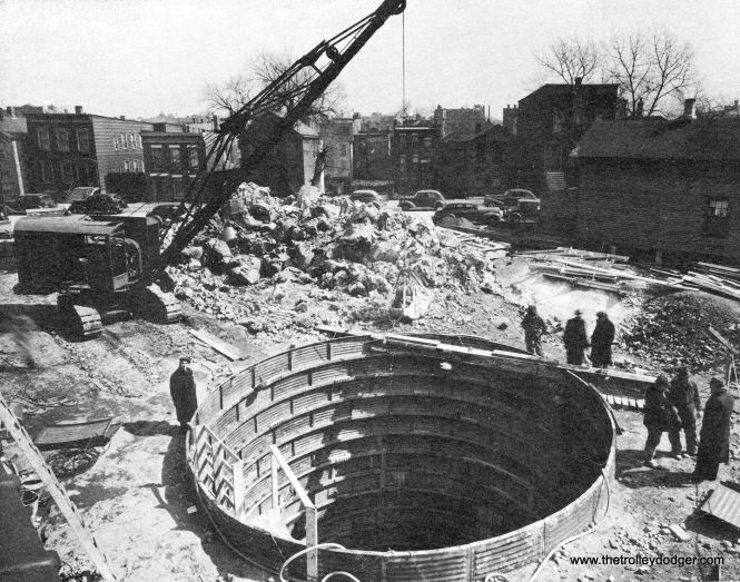 The first subway construction site.