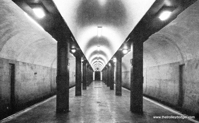 The new State Street tube prior to opening.