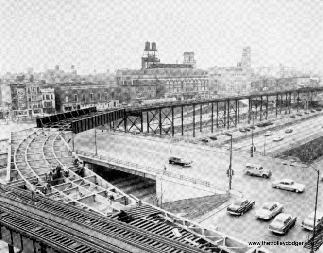 "In 1958, work was being done to connect the Douglas Park ""L"" with the new Congress line."