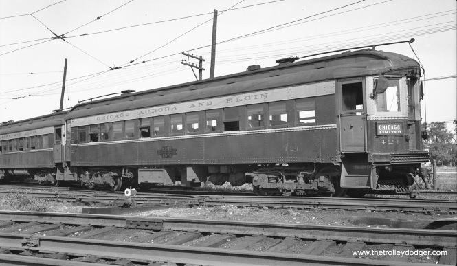 CA&E 421 is at Wheaton Yard in September 1936.