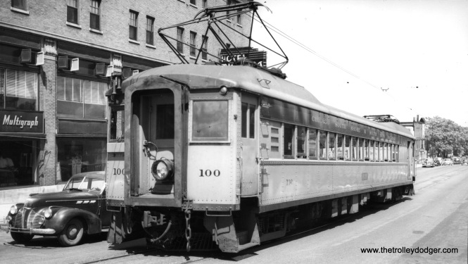 #100 at South Bend, apparently in the 1940s. (Charles Savage Photo)