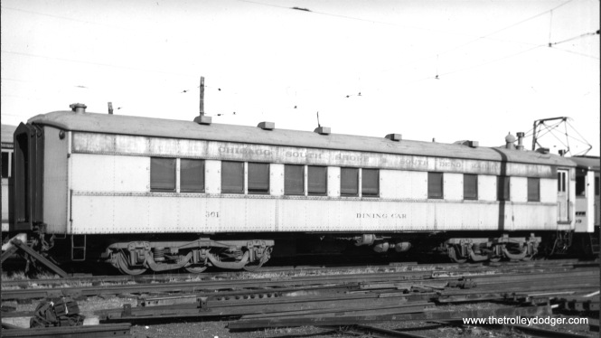 Dining car #301 in 1939. (Photo by A. Q.)