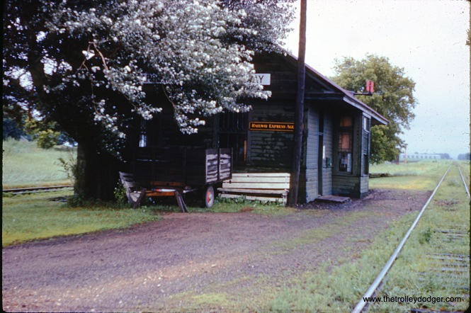 A train station at an unidentified location in February 1970. (William Shapotkin Collection)