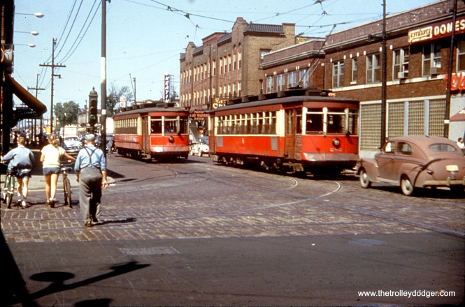 CTA 282 and 285 at 63rd and Kedzie in August 1953.