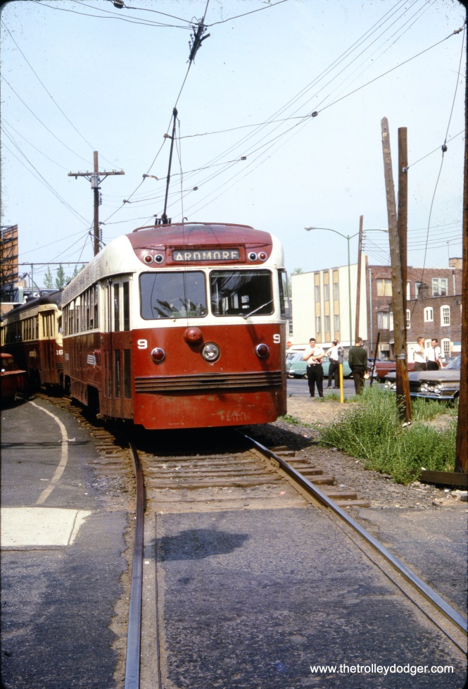 Red Arrow Brilliner #9 at the end of the Ardmore line in May 1965.