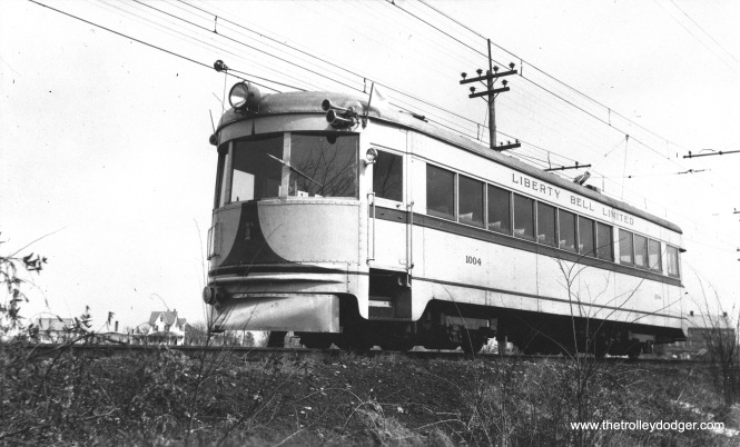LVT 1004 in Allentown, October 1939. (James Maloney, Jr. Photo)