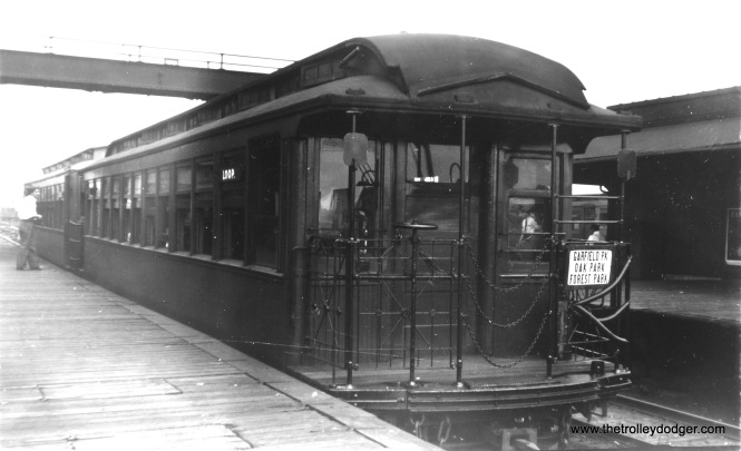 A CRT gate car, running in service on the old Garfield Park