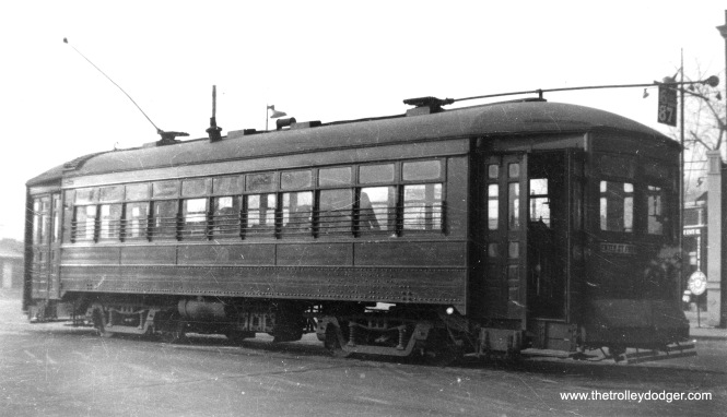 An unidentified C&WT car, probably in the 1930s. (William Shapotkin Collection)