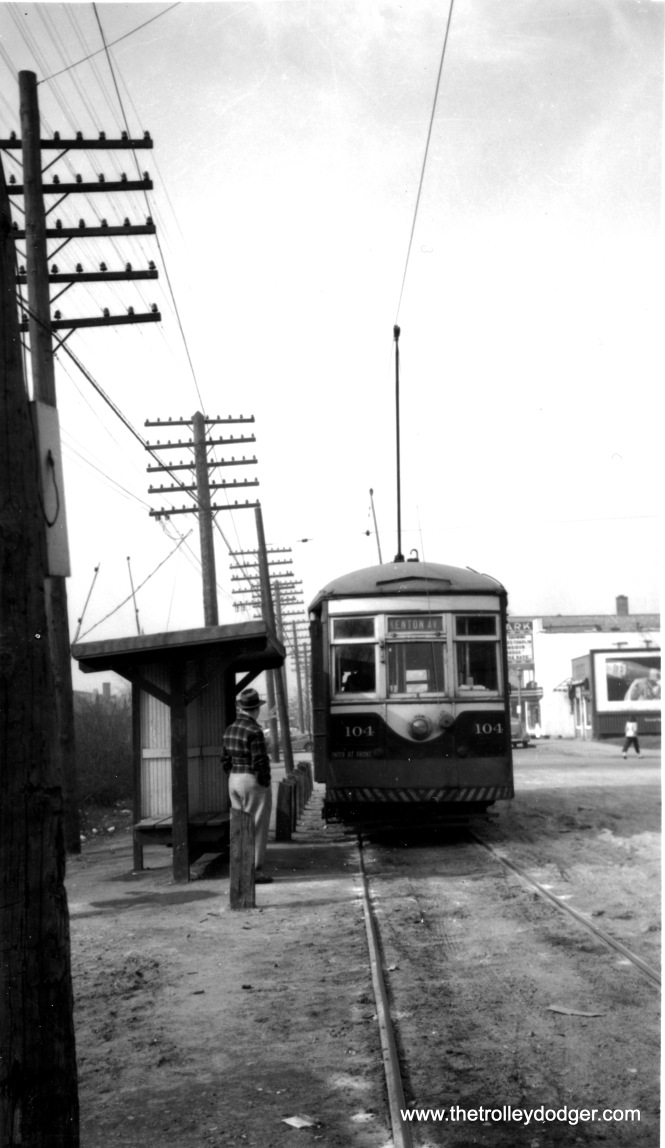 C&WT 104 at the end of the line in LaGrange. (William Shapotkin Collection)