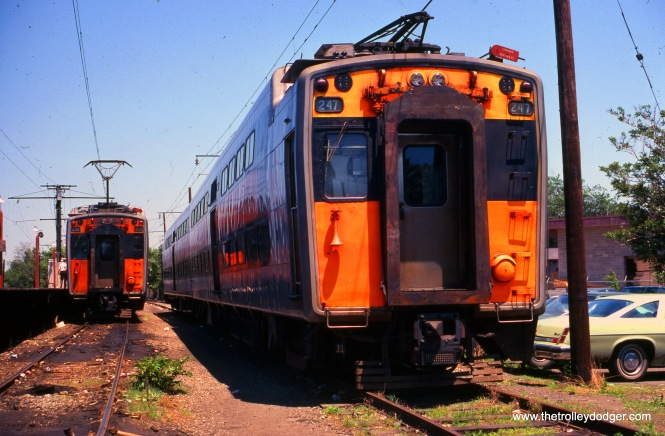 The Illinois Central Electric at Blue Island in June 1978. (William Shapotkin Collection)