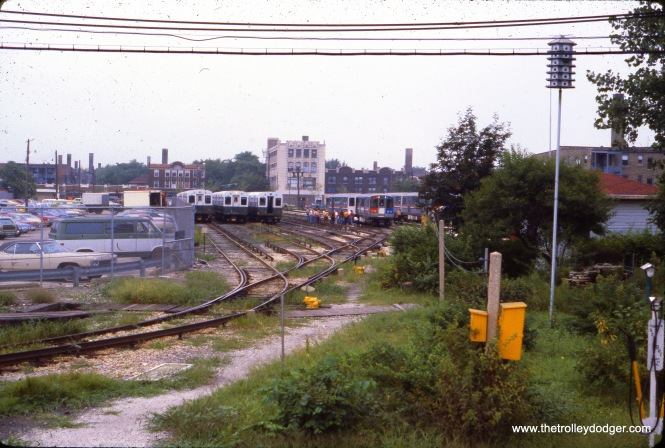 CTA 2411-2412 have derailed at Kimball Yard on August 25, 1978.